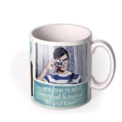 Capture Good Times Photo Upload Mug