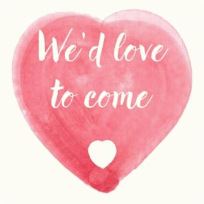 We'd Love You To Come Heart Personalised Card