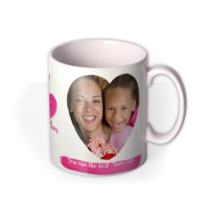 I Love My Mum Multi Heart Photo Upload Mug