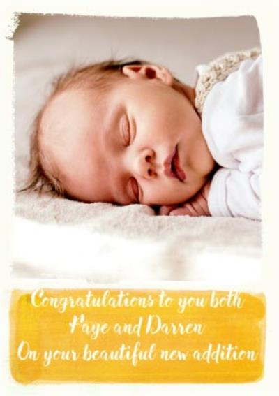 Paint A Picture Congratulations Photo Upload Card