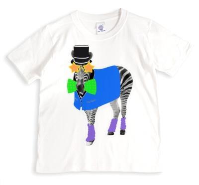 Zebra Doodle Personalised T-shirt
