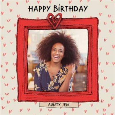 Birthday Card - Photo Upload - Aunty - Photo Frame