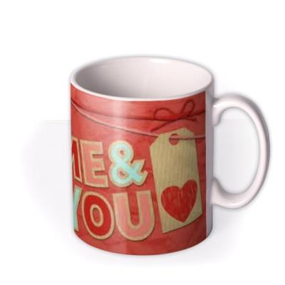 Valentine's Day Ribbons & Heart Photo Upload Mug