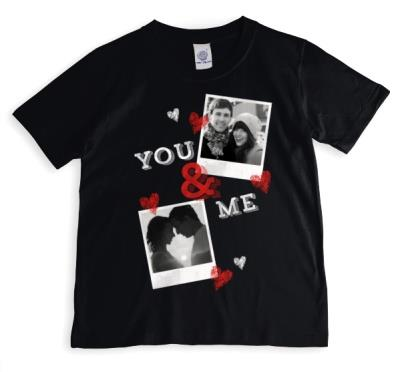 You & Me Double Photo Upload T-Shirt