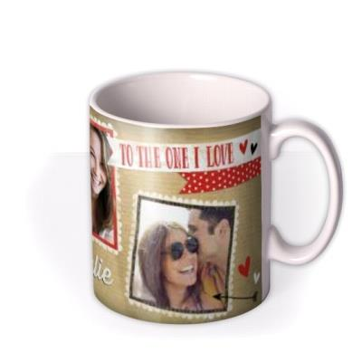 Valentine's Day Paper Love Photo Upload Mug