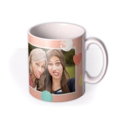 Pastel Hearts Personalised And Photo Mug