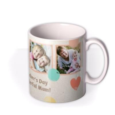 Pastel Hearts And Polka Dots Photo Mug