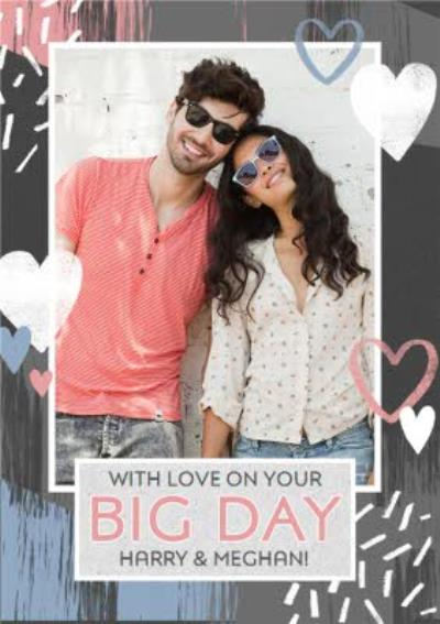 Personalised Photo Upload With Love On Your Big Day Card