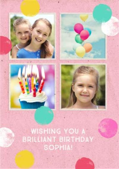 Kids Photo upload birthday card