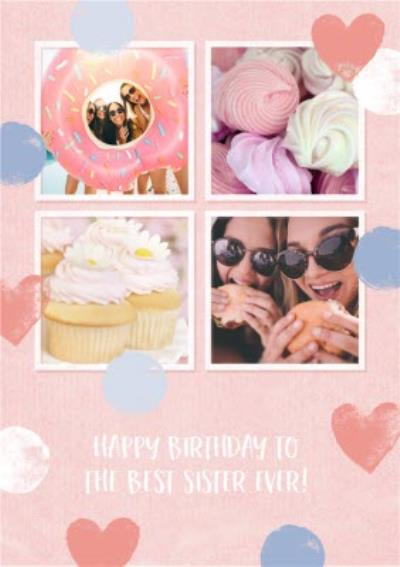 Best Sister Ever Photo Upload Birthday Card