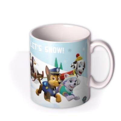 Paw Patrol Let Snow Photo Upload Mug