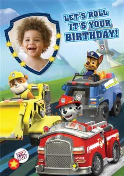 Photo Paw Patrol Birthday Card