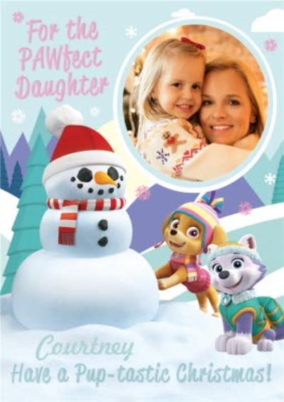 Paw Patrol Colour Me In Activity Photo Upload Girls Christmas Card