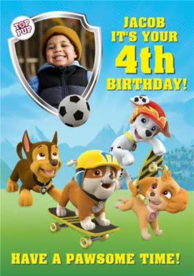 Nickelodeon Paw Patrol Photo Upload Card
