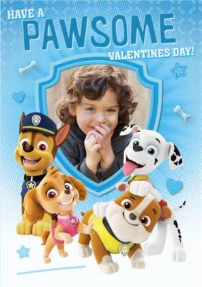 Have A Pawsome Valentines Day Photo Upload Card
