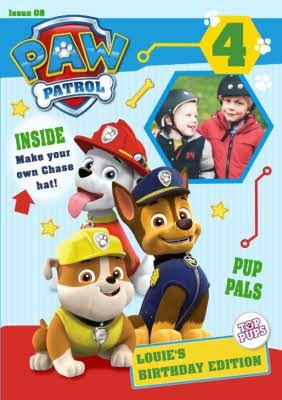 Nickelodeon Paw Patrol 4Th Birthday Card