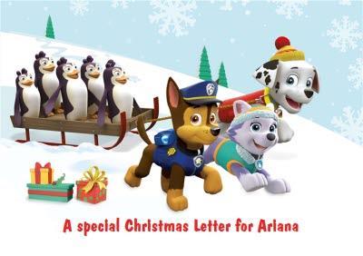 Nickelodeon Paw Patrol Personalised Christmas Card