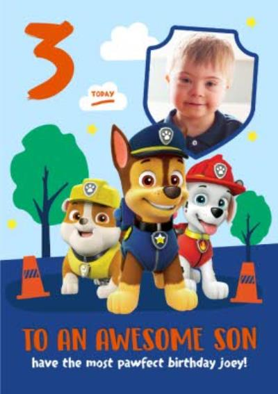 Paw Patrol Birthday Card for Son An Awesome Son