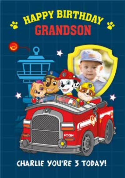 Paw Patrol Birthday Card for Grandson