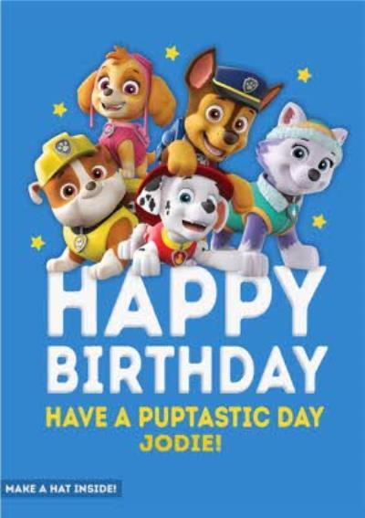 Paw Patrol Birthday Have a Puptastic Day Birthday Card