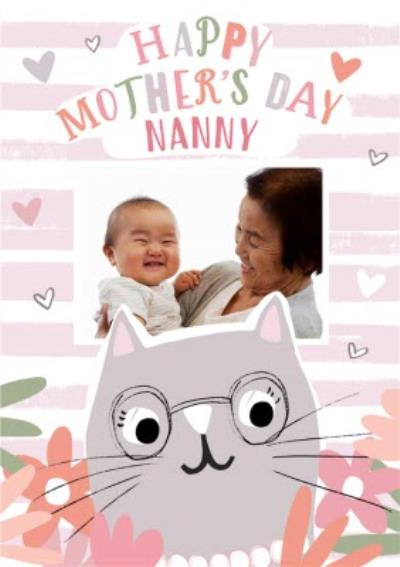 Cute Modern Mother's Day Photo Upload Card For Nanny