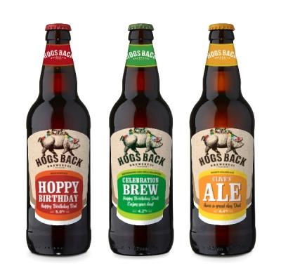 Personalised Hogs Back Beer Trio