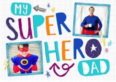 My Super Hero Dad Crayon-Style Photo Upload Card