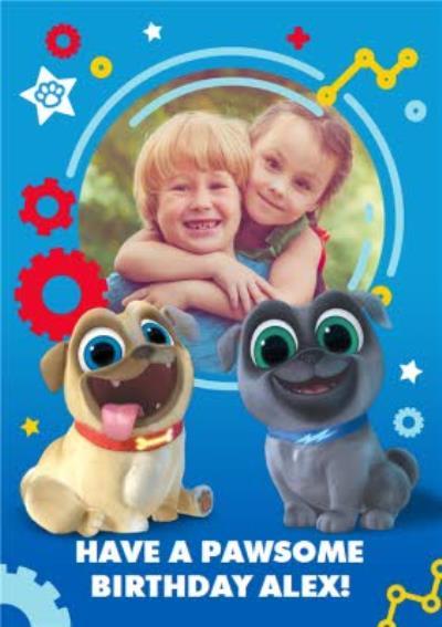 Puppy Dog Pals photo upload birthday card