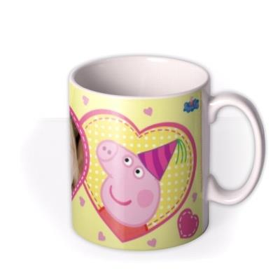 Peppa Pig Birthday Cake Photo Upload Mug