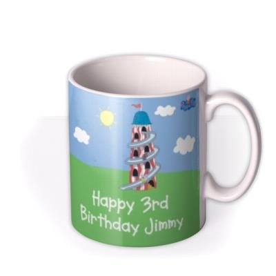 Peppa Pig Birthday Balloons Personalised Mug