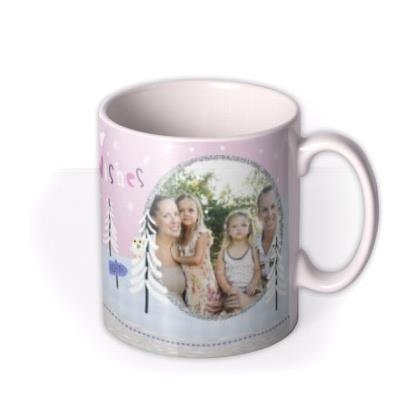 Christmas Peppa Pig Sledge Personalised Mug