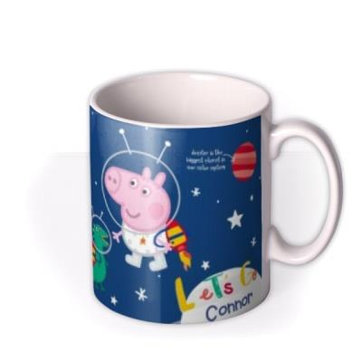 Peppa Pig Up In Space Personalised Mug