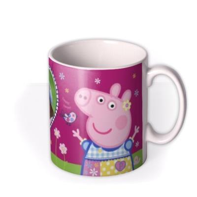 Peppa Pig In The Garden Photo Upload Mug