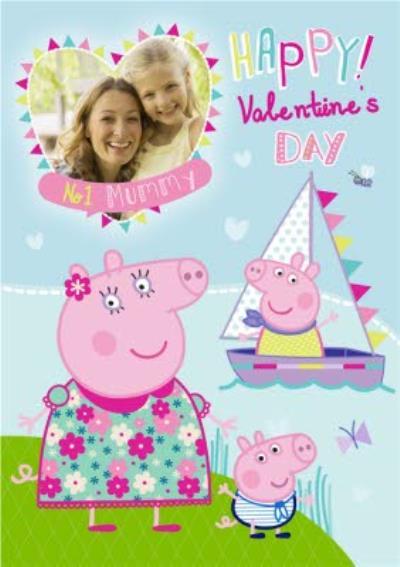 Peppa Pig Happy Valentines Day Photo Card