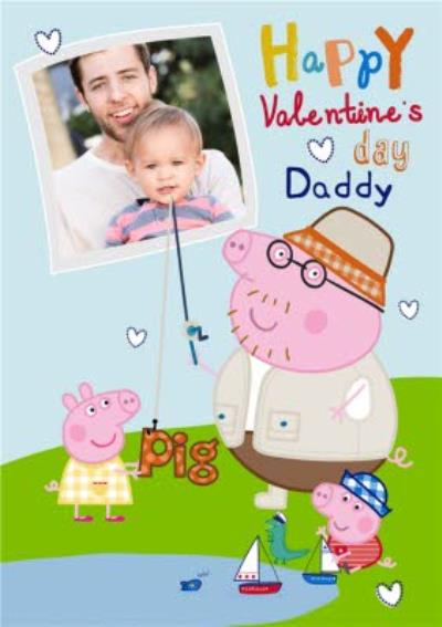 Peppa Pig Happy Valentines Day Daddy Photo Card