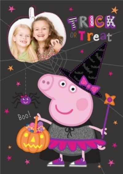 Peppa Pig Trick Or Treat Halloween Card