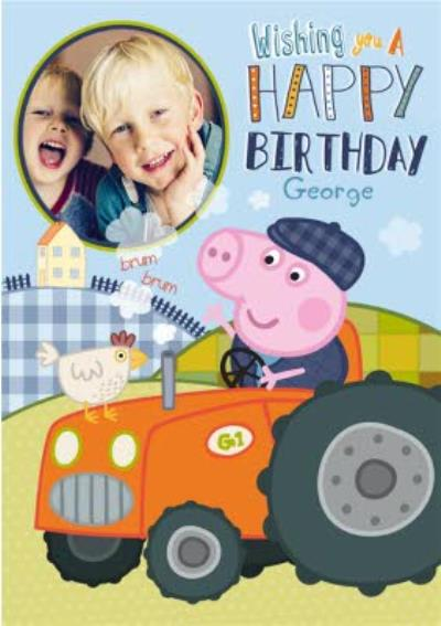 Photo Upload Peppa Pig Happy Birthday Card