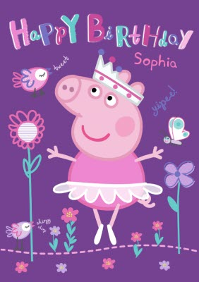 Happy Birthday Peppa Pig Card