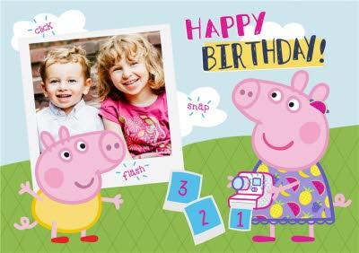 Peppa Pig Photo Upload Birthday Card