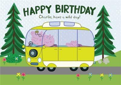 Peppa Pig Happy Birthday Have A Wild Day Photo Card