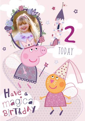 Peppa Pig 2nd Birthday Card