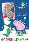 Peppa Pig Snow Dino Photo Upload Christmas Card