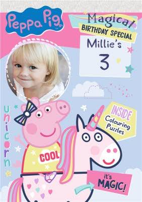 Peppa Pig 3Rd Photo Upload Birthday Card