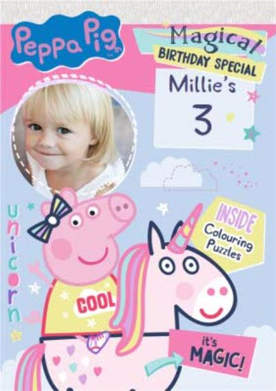 Peppa Pig 3Rd Photo Upload Birthday Card