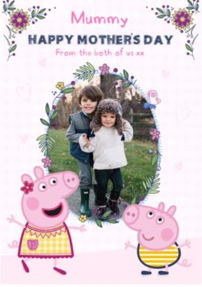 Mother's Day Card - Peppa Pig - mummy - photo upload card