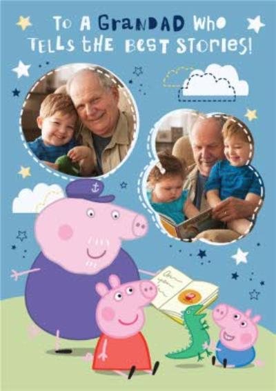 Peppa Pig Grandad Father's Day Photo Card