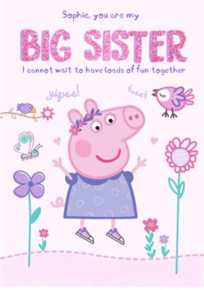 New Baby Card - Big Sister - Peppa Pig