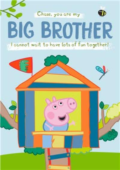 New Baby Card - Big Borther - Peppa Pig