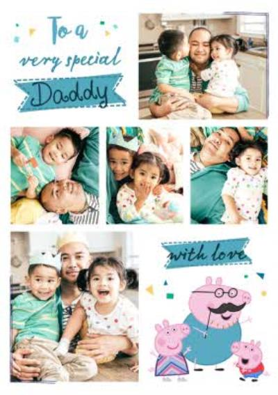 Peppa Pig To A Very Special Daddy Happy Father's Day Photo Card