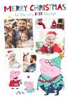 Peppa Pig Best Daddy Photo Upload Christmas card